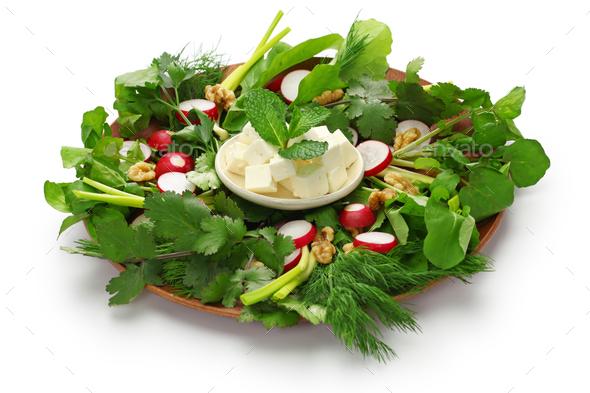 sabzi khordan, iranian cuisine - Stock Photo - Images