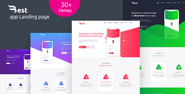 Image of Best- app, Software , Web-app HTML5 Responsive Landing page Template