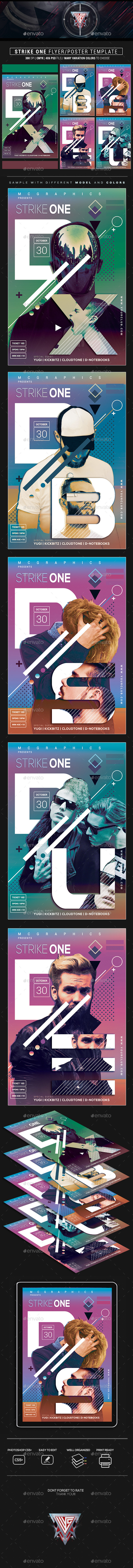 Strike One Flyer/Poster Template - Flyers Print Templates