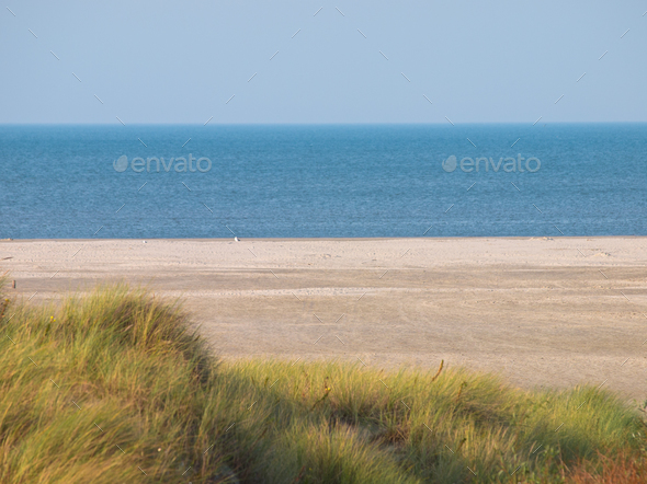 beach dune sea view - Stock Photo - Images