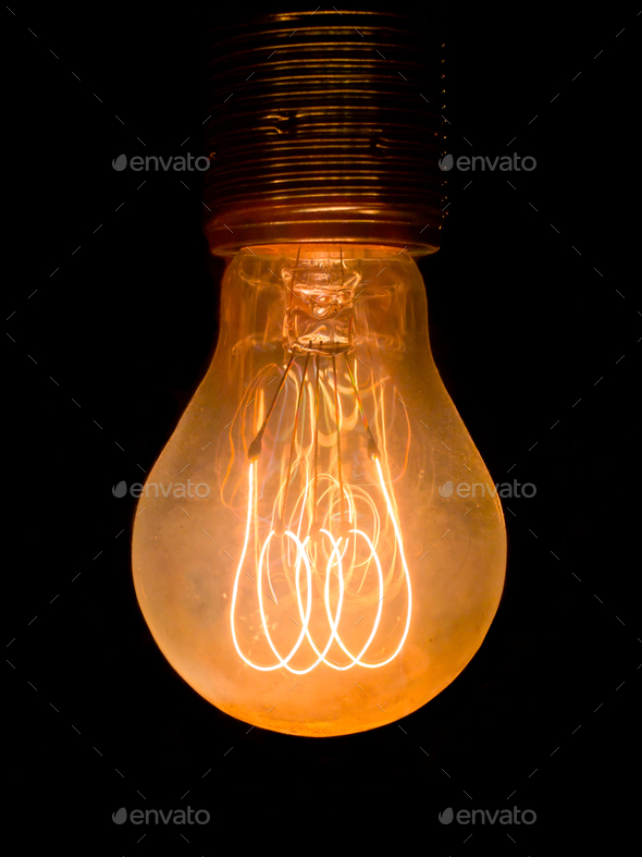 Old dusty light bulb - Stock Photo - Images