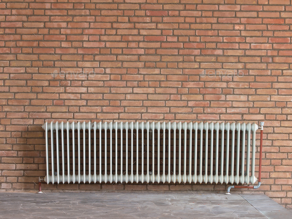 Old radiator heating - Stock Photo - Images