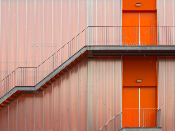 Fire escape stairs - Stock Photo - Images