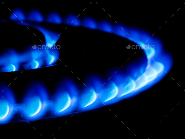 giant gas stove - Stock Photo - Images