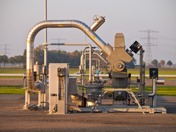 Natural gas well - Stock Photo - Images