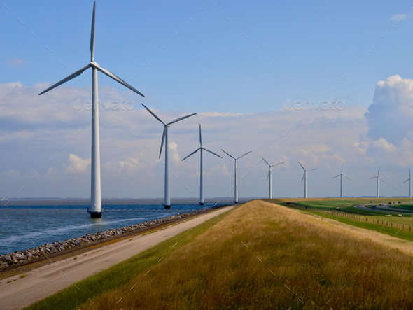 Dutch windfarm overview - Stock Photo - Images