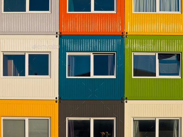 cargo container apartments - Stock Photo - Images