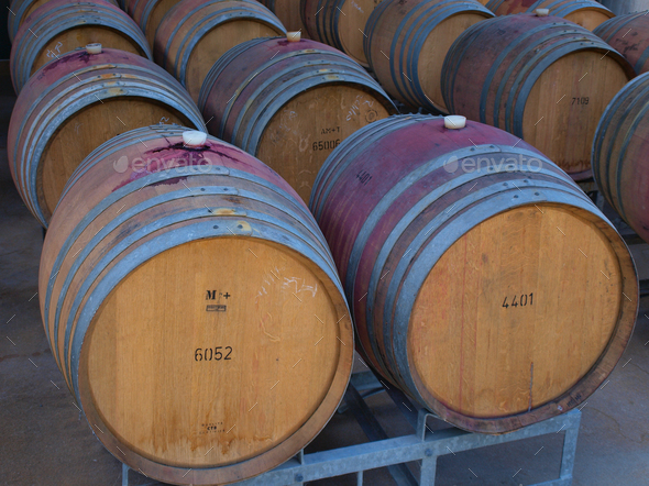 wine barrels - Stock Photo - Images