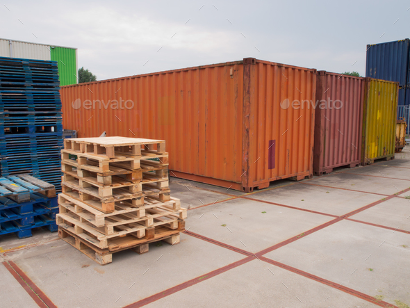 containers and pallets - Stock Photo - Images
