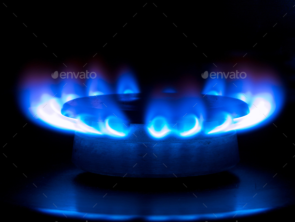 blue flames - Stock Photo - Images