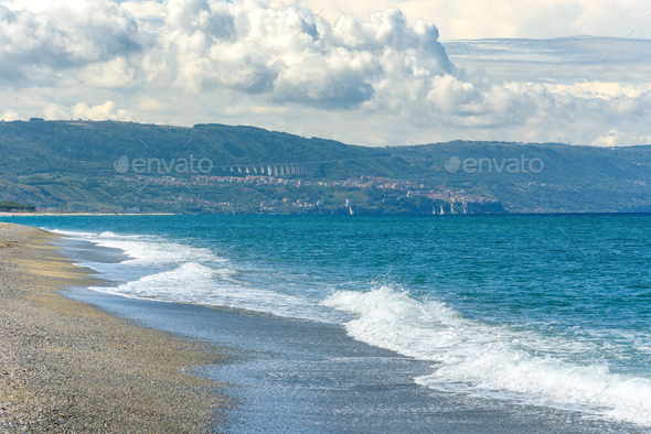 Vief of Calabrian coast by the Tyrrhenian Sea - Stock Photo - Images