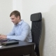 Young Man Sipping Tea on Laptop While Working in Office.  - VideoHive Item for Sale