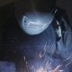 The Working Welder Processes the Metal, Prepares the Base - VideoHive Item for Sale