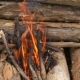 Bonfire Burns at the Campsite - VideoHive Item for Sale