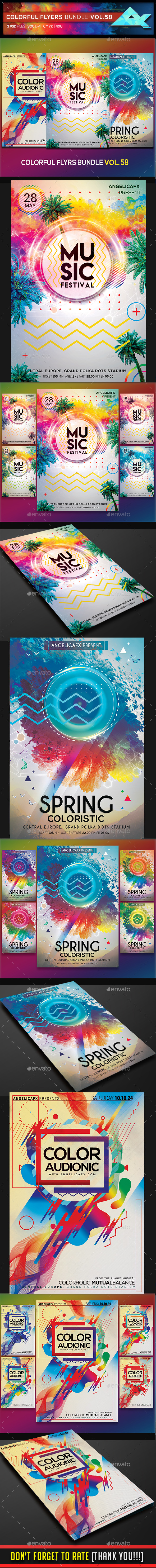 Colorful Flyers Bundle Vol. 58 - Flyers Print Templates
