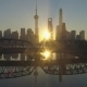 Shanghai Skyline at Sunrise at the Sunny Morning. China. Aerial View - VideoHive Item for Sale