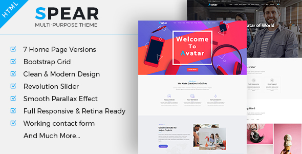 Spear - Multipurpose Business HTML Template - Corporate Site Templates