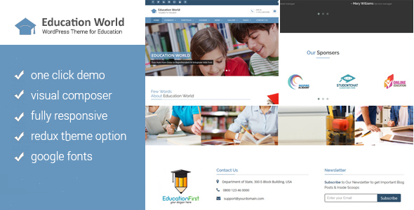 Education World WordPress Theme - Education WordPress