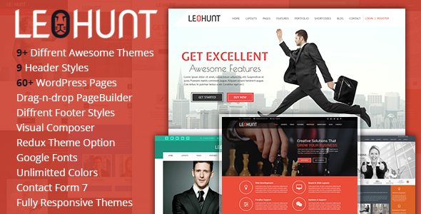 LeoHunt - Responsive Multi-Purpose WordPress Theme - Business Corporate