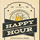 Vintage Happy Hour Beer flyer - GraphicRiver Item for Sale