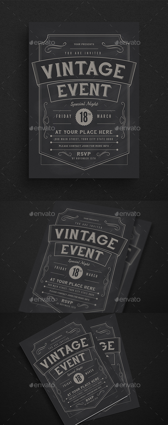 Vintage Event Flyer - Events Flyers