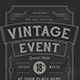 Vintage Event Flyer - GraphicRiver Item for Sale