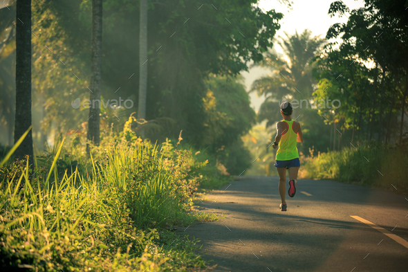 Running in park - Stock Photo - Images