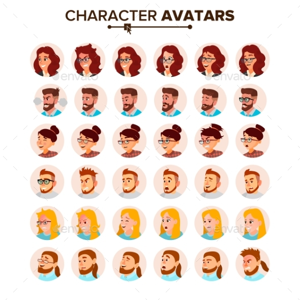 Business People Avatar Vector. - People Characters