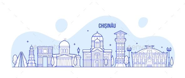 Chisinau Skyline, Moldova City Buildings Vector - Buildings Objects