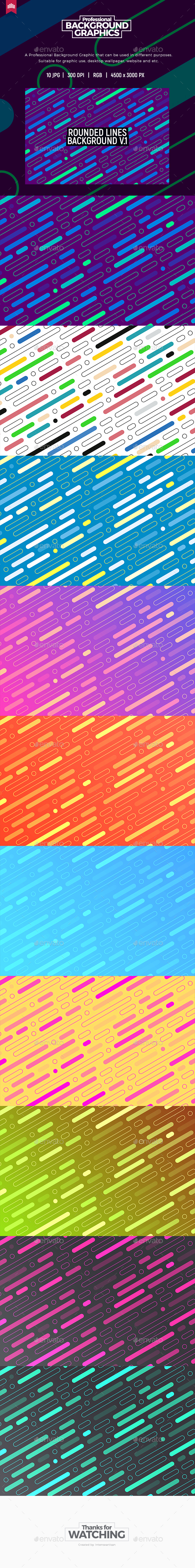 Rounded Lines Background V.1 - Abstract Backgrounds