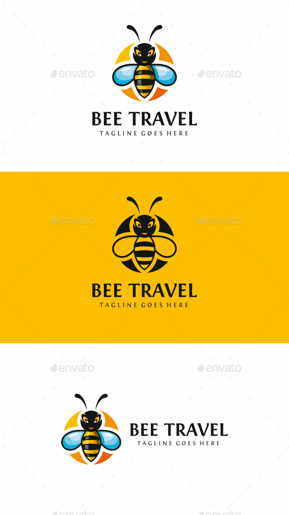 Bee Travel Logo - Animals Logo Templates