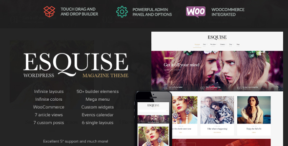 Esquise - Magazine WordPress Theme - Blog / Magazine WordPress