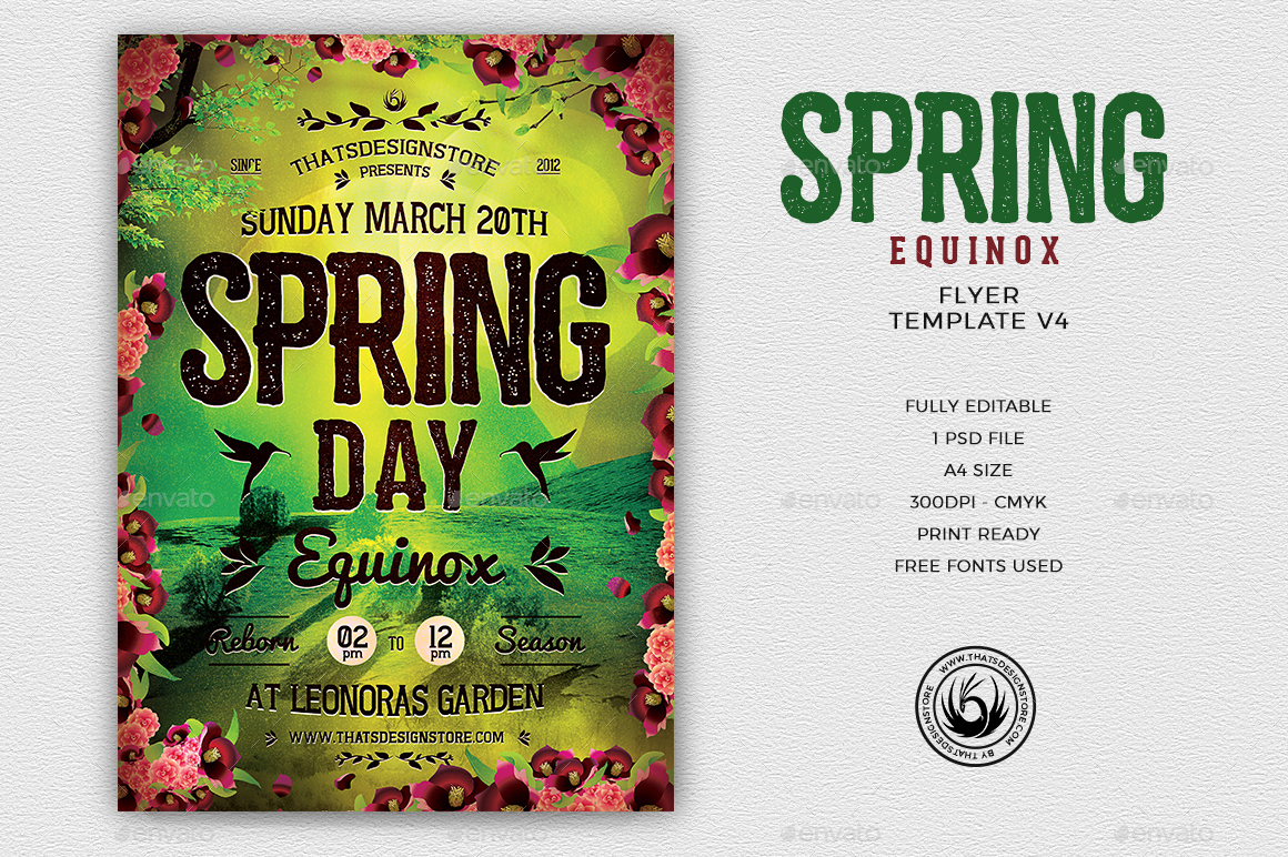 Spring Equinox Flyer Template V4