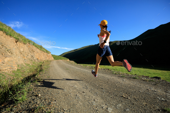 Trail running - Stock Photo - Images