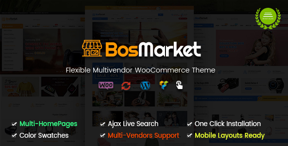 BosMarket - Flexible Multi-Vendor WooCommerce Theme (Mobile Layouts Included) - WooCommerce eCommerce