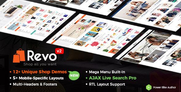 Revo - Multi-purpose WooCommerce WordPress Theme (12+ Homepages & 5 Mobile Layouts Included) - WooCommerce eCommerce