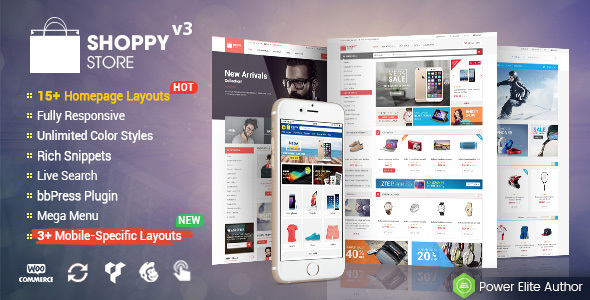 Image of ShoppyStore - Multi-Purpose Responsive WooCommerce Theme (15+ Homepages & 3 Mobile Layouts Included)
