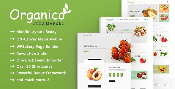 Organico - Food Market Responsive WooCommerce WordPress Theme