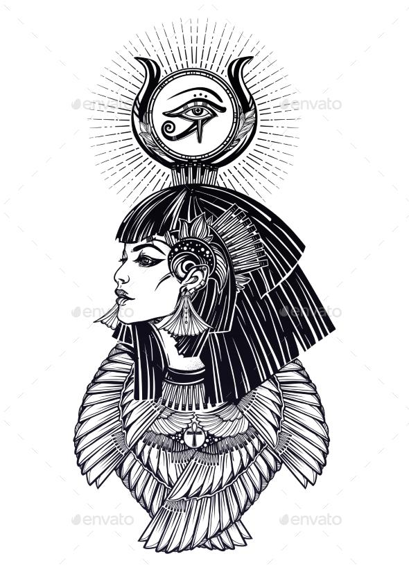 Portrait of a Egyptian Goddess. - Miscellaneous Vectors