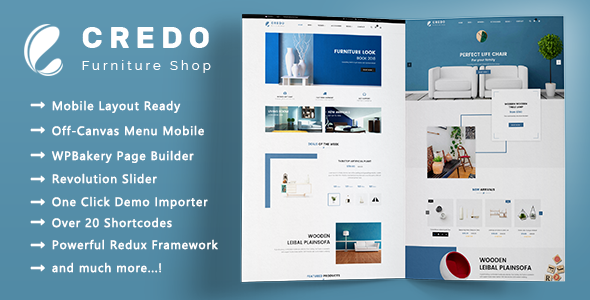 Credo - Minimalist Furniture Responsive WooCommerce WordPress Theme - WooCommerce eCommerce