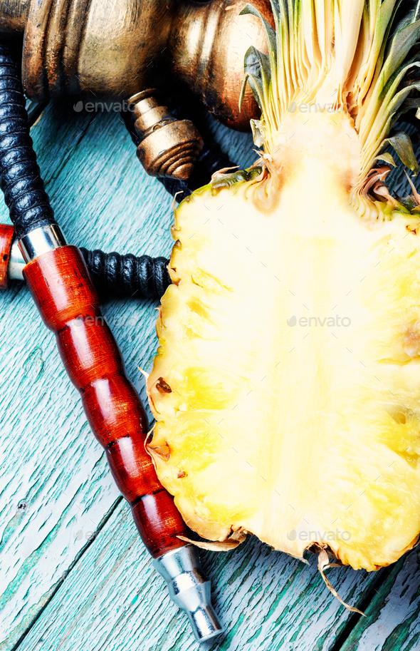 Stylish pineapple shisha - Stock Photo - Images
