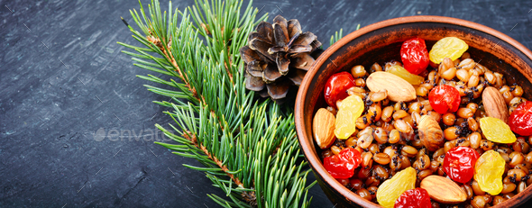 traditional christian Christmas dish, kutya - Stock Photo - Images