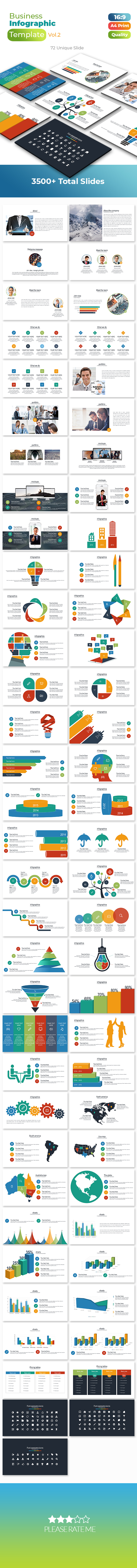 Info Graphic Business PowerPoint Template - Business PowerPoint Templates