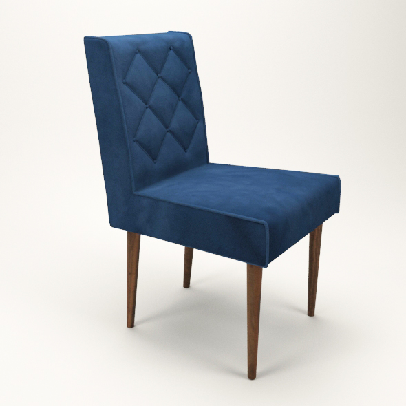 simple upholstered chair - 3DOcean Item for Sale