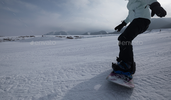 Snowboarding outdoors - Stock Photo - Images