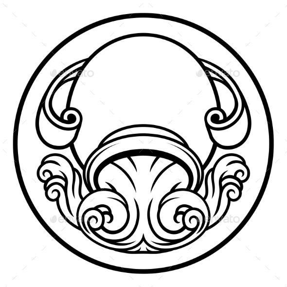 Aquarius Horoscope Zodiac Astrology Sign - Miscellaneous Vectors