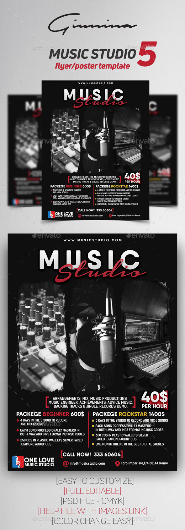 Music Studio 5 Flyer/Poster - Commerce Flyers