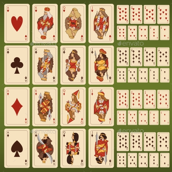 Set of Playing Cards - Miscellaneous Vectors