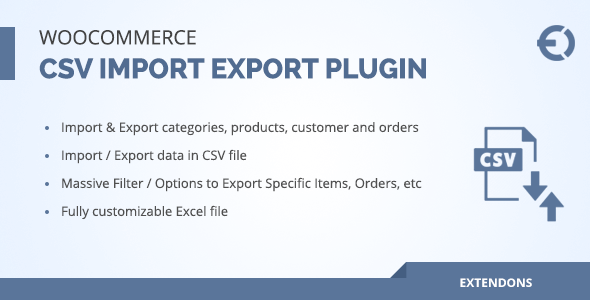 Woocommerce csv import export plugin - orders, customers, products - CodeCanyon Item for Sale