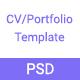 CV  /RESUME / Portfolio PSD Template - ThemeForest Item for Sale